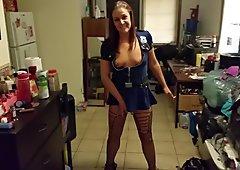 Halloween Police Slut Ready for the BBC