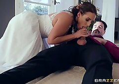 Cornuto sposa Angela White luvs anale - reggiseni
