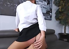 Dakota is a brunette secretary who got spanked and fucked by her boss