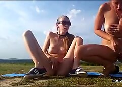 Valeria and Heidi bating in the wild