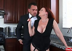 Horny MILF Janet Mason gets nailed and creamed by her driver - Mrs Creampie