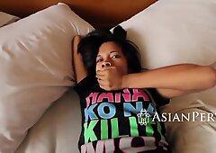 Rich white perv seduces and fucks slim Asian cutie Jenelyn