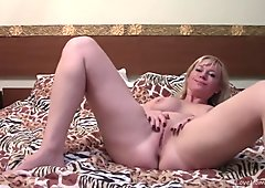 Gorgeous Busty Blonde In Leopard Lingerie