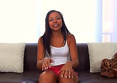 CastingCouch-X - Cute ebony Adrian Maya tries to get into the business