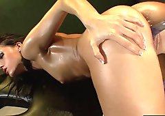 One hot lesbian massage session