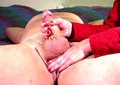Spesso cazzo carezze con azione dopo sperma