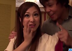 Maki Horiguchi handles cock in both pussy and mouth  - More at javhd.net