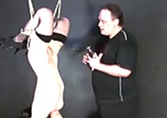 Sex toy domination and suspension bondage of kinky fetish
