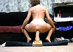 Hot MILF destroys pussy fucking huge toy