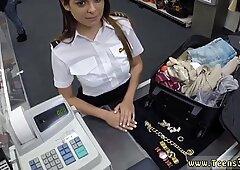 Cazzo brunetta che delizioso culo scopa una sexy hostess latina