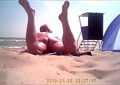 Nudist public beach naked voyeur to spy prolapse gape