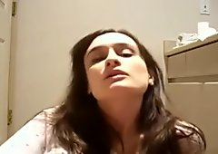 face of orgasm on bathroom floor