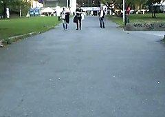 Marrone scuro con pregevoli tumuli mostra il suo corpo di fronte a tutti