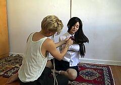 Kinbaku Bondage - Io sofferente in corda e condiviso un momento faticoso