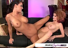 Jessica Jaymes & Joslyn James in a lesbian action, big boobs