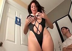Angry MOM Jerks off my Cock