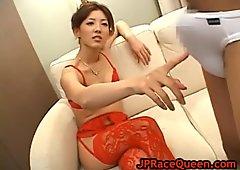 Hiromi aoyama sucks cock in lingerie