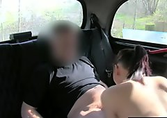 Public amateur sucking cabbie cock after getting oral