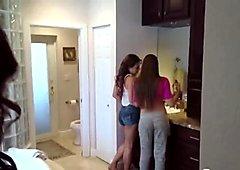 Step mom Ava teaching teen Kota to ride big cock