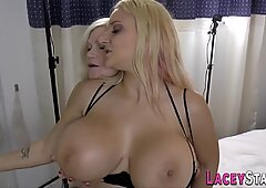 Grandmother tongues busty lesbians pussy
