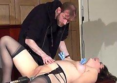 Amateur slave Jannas kinky fetish and bizarre machine fucked