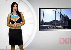Naked presenters from DLN TV - resume of love sexy stripping breaking news.
