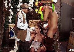 Grasso Piselli, sesso a tre e una brutta Doppia Penetrazione Seance