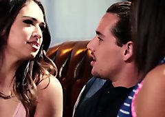 Sara Luvv and big ass Abella Danger fucked in threesome sex