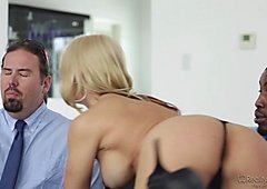 Hungry wife Sarah Vandella gets her appetite suppressed by BBC