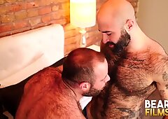 BEARFILMS Hungry Bear Mathieu Angel Fucked After Rough BJ