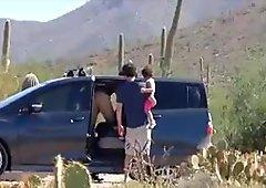 The Arizona HotWife Gangbanging Strangers in a Public Park