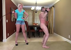 Whipped by hot blonde mistress Vanessa