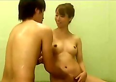 AzHotPorn.com - Sluts Perform Fellatio in the Bathroom