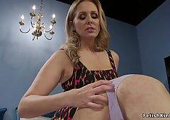 Milf dominatrix anal fucks male in rope