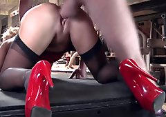 Cathy doesn't mind a greasy cock