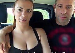 Heavenly Hannah Sweet fucks in the back seat