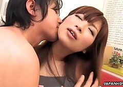 Asian porn star gets creamed with pleasure