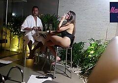 Casal Badarox flagrado no motel Manu Fox e Rubens Badar&oacute_ (video completo no RED)