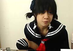 Japanese school girl in detention...