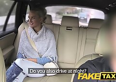FakeTaxi Married woman deepthroats and pulverizes driver