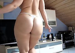 homemade, dancing with one of the biggest asses i've seen
