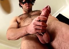 Hairy pierced guy jerking off part3
